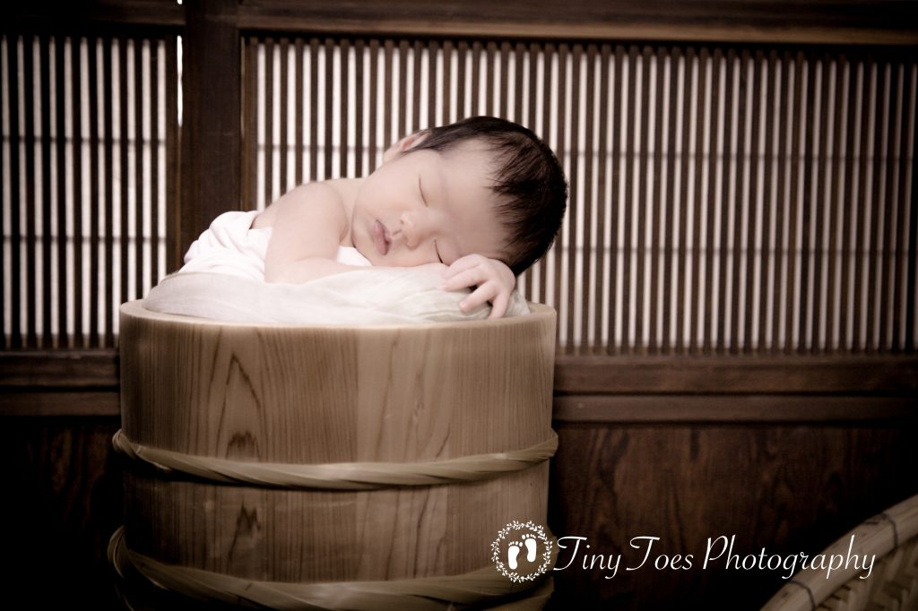 タイニートーズ生後7日目赤ちゃんニューボーンフォト藤枝市女の子