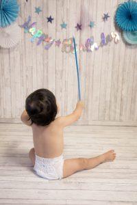 タイニートーズ男の子赤ちゃん島田市藤枝市焼津市静岡市1歳1才誕生日記念写真ケーキスマッシュケーキ