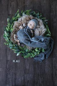 タイニートーズ男の子赤ちゃん新生児フォトニューボーンフォト島田市藤枝市焼津市静岡市0歳0ヶ月セルフニューボーン撮影